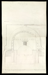 Ajanta: Elevation of Front of Cave X.